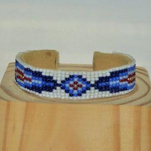 Jewelry - Navajo Leather Beaded Bracelet (NWOT)